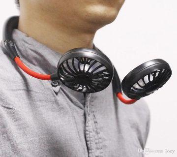 New Hanging Neck Fan, Outdoor Wearable Lazy Sports Fan USB Charging Portable Double Head Fan.