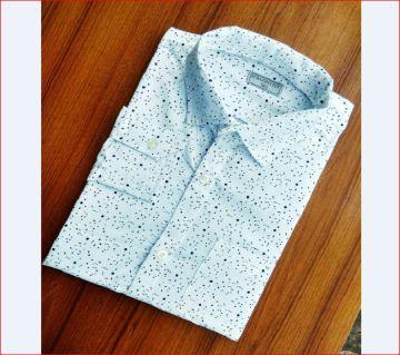 Mens Full Sleeve Casual Shirt White