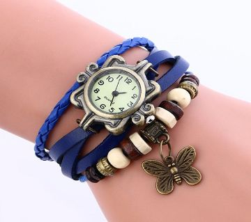 Artificial Leather Bracelet Analog Watch for Women