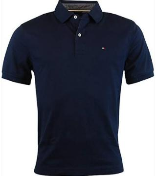 Half sleeve cotton polo shirt for men - black