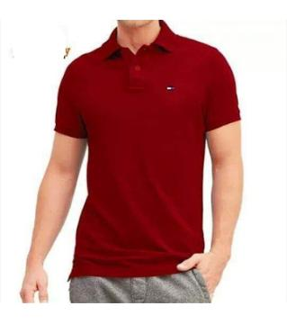 Half Sleeve cotton polo shirt for men-red