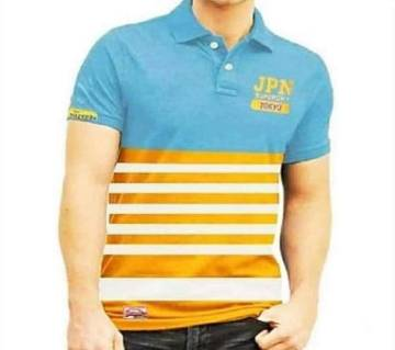 half sleeve cotton polo-shirt  for men-multi color