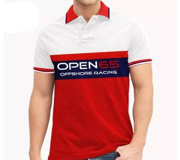 half sleeve cotton polo-shirt  for men-red