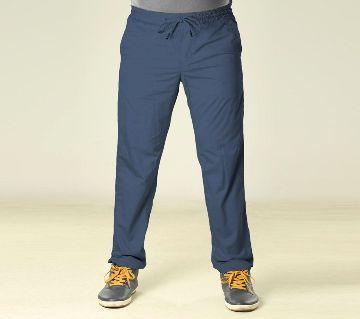 Summer Night Comfort Navy Blue Cotton Sleeping Jogger For Men