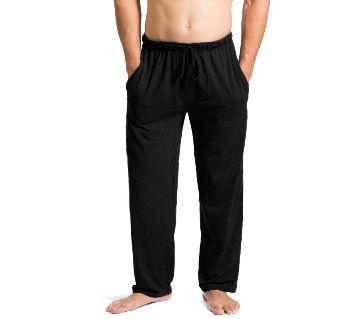 100% Cotton Sleeping Relax Pant For Men - Black