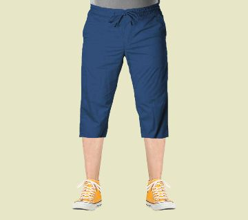 3 Quarter   Gabardine Type Summer Trouser For Men - Elastic Hip.