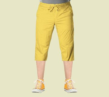 3 Quarter  Gabardine Type Summer Trouser For Men - Elastic Hip