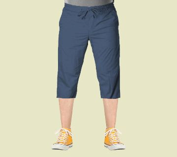 3 Quarter  Gabardine Type Summer Trouser For Men - Elastic Hip NB