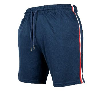 Navy Blue Cotton Half Pant For Men NB