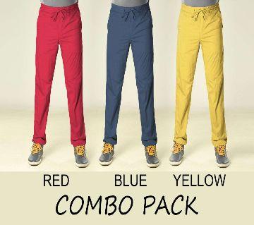Combo Pack - 3 Gabardine Type Summer Trouser For Men With Elastic Hip 4