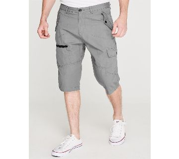 Cotton - PIERRE CARDIN three quarter Cargo Shorts Mens Ash