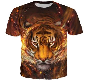 TIGER Face- Full Body Print TSHIRT
