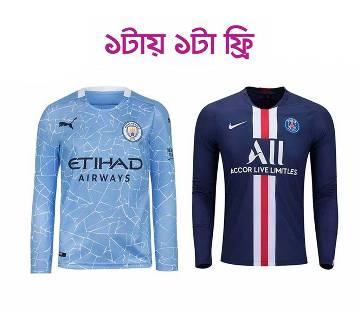Manchester City ফুল স্লিভ জার্সি (Copy)Barcelona Home ফুল স্লিভ জার্সি