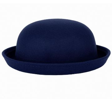 Navy Blue Synthetic Hat For Men