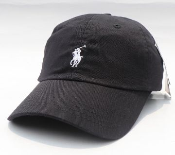 Black US Polo Curved Cap For Men