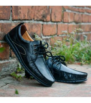 Royal cobbler Casual shoes pu Leather Black