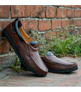 Royel Cobbler Brown Colour Casual Shoes PU Leather