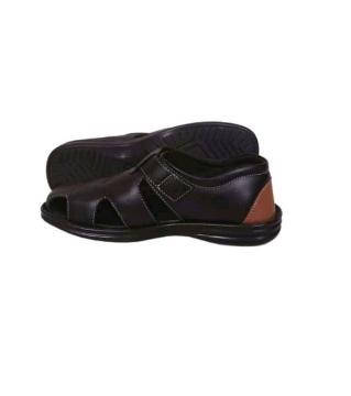 Leather sandal Black