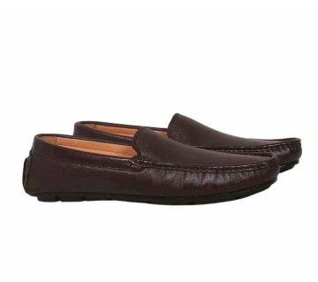 Leather mens Lofers  -brown