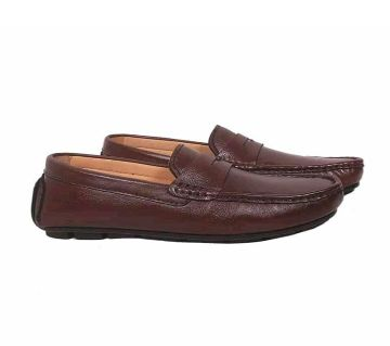 Leather mens Lofers-Brown