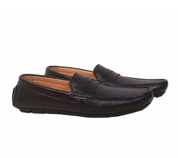 Mens Leather Lofers-Chocolate