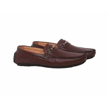 Leather Mens Loafers -maroon