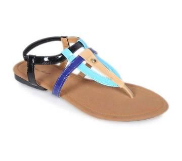 Sandra Rosa Multi Color Leather Ladies Sandal