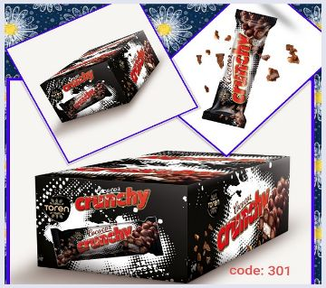 Crunchy Coconut bar with Milky Compound Crispied rice(1 BOX)Turkey 24 pcs/Box