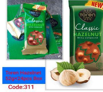 :Toren Classic Hazelnut with Compound Chocolate-(1BOX)-Turkey 24 pcs/Box