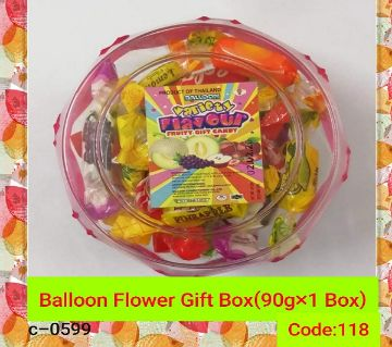 Balloon Flower Gift Box-  Every One Like This Chocolate-Thailand 90gm/per box
