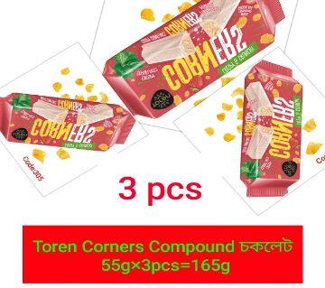 TOREN CORNERS RED_CORNFLEAKS COMPOUND CHOCOLATE -(3 PCS) TURKEY: 165gm/3pcs