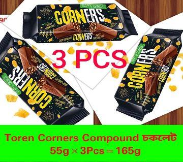 TOREN CORNERS WHITE CORNFLEAKS COMPOUND CHOCOLATE -(3 PCS) TURKEY 165gm/3pcs