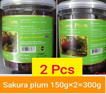 SAKURA PLUM DRY FOOD- 2BOX)-THAILAND 300gm/ 2 box