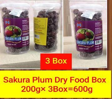 SAKURA PLUM DRY FOOD- (3BOX)-Thailand 600gm/ 3 box