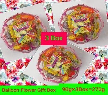 BALLOON FLOWER GIFT BOX--THAILAND 270gm/3 BOX