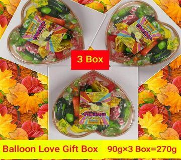 BALLOON LOVE GIFT BOX- @Very Nice-Thailand 270gm/3 BOX