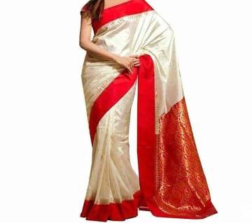 Indian silk katan saree  3 red par Without Matching Blouse Piece