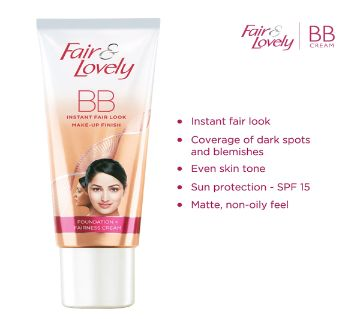Made in India - BB Instant Fair Look Make-up Finish Foundation + Fairness Cream-40g-India