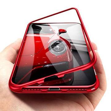 360 Metal Case for iPhone X -Red