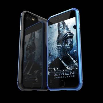360 Metal Case For iphone XS - Blue