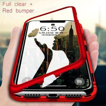 360 Metal Case For iPhone 7/7S-Red