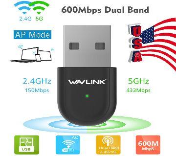Wavlink WL-WN691A1 AC600 Dual Band Wi-Fi USB Adapter