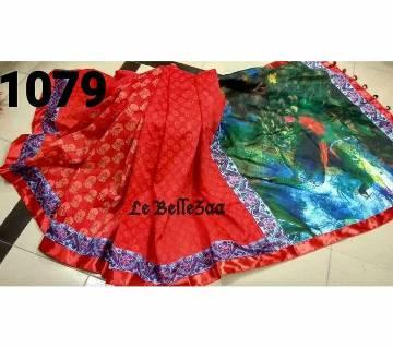 Indian muslin silk sharee  no blouse piece