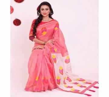 Indian Muslin Multi Color Silk Sharee no blouse piece