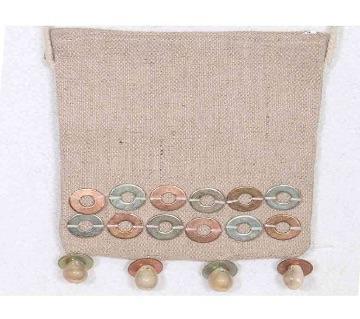 jute made ladies mobile bag