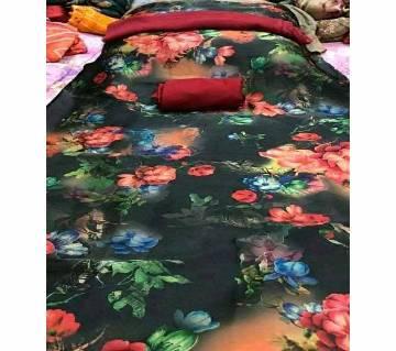 unstitched Silk Salwar Kameez 3 pcs-mix color