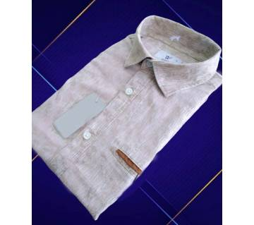 Brown Full Sleeve Mens Fashion Shirt