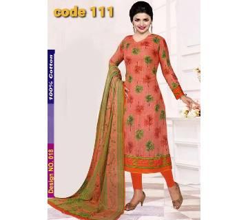 Unstitched Jaipuri Cotton salwar kameez -