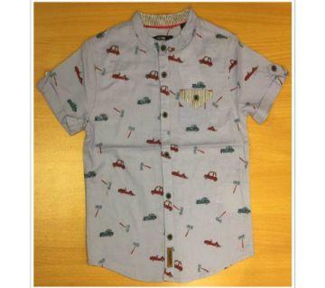 Boys short sleeve shirt with car print