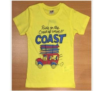 Boys short sleeve fashion t shirt -yellow